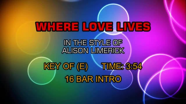 Alison Limerick - Where Love Lives