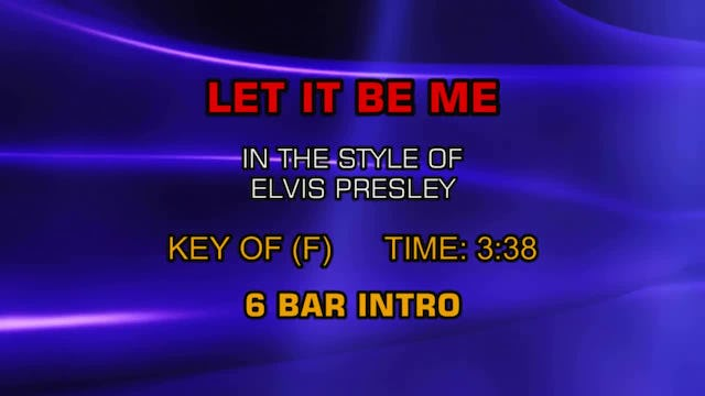 Elvis Presley - Let It Be Me