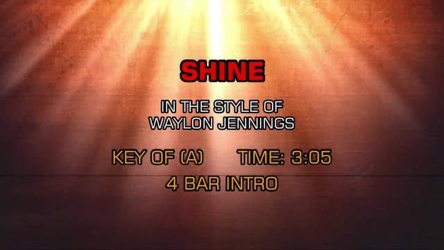 Waylon Jennings - Shine