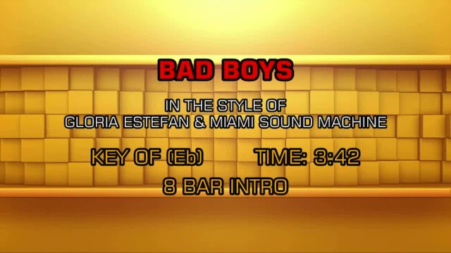 Gloria Estefan Miami Sound Machine - Bad Boy