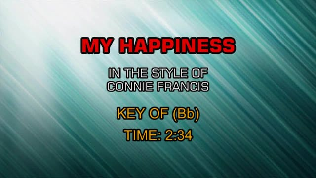 Connie Francis - My Happiness