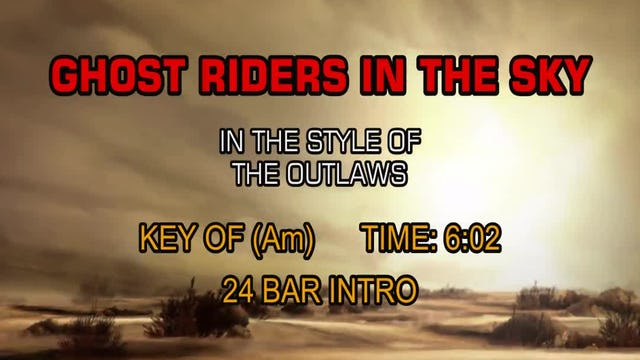The Outlaws - Ghost Riders In The Sky