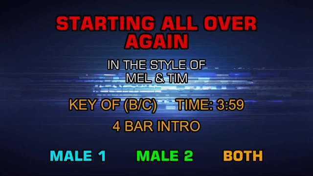 Mel & Tim - Starting All Over Again