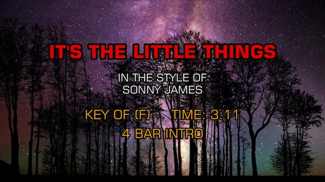 Sonny James - It's The Little Things
