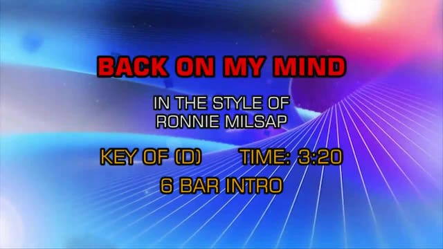 Ronnie Milsap - Back On My Mind Again