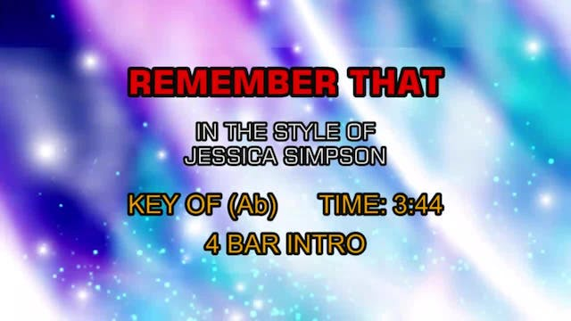 Jessica Simpson - Remember That