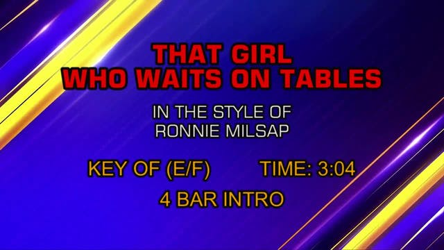 Ronnie Milsap - That Girl Who Waits O...