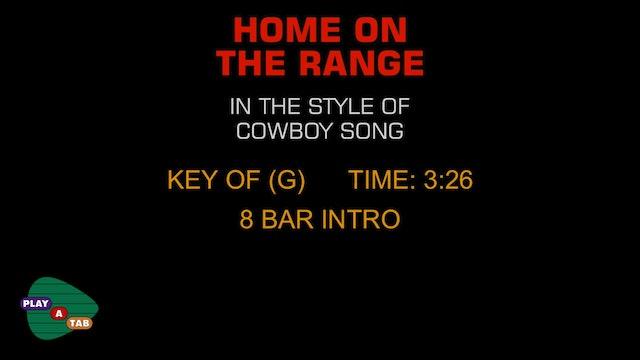Folk Standard - Home On The Range - Play A Tab