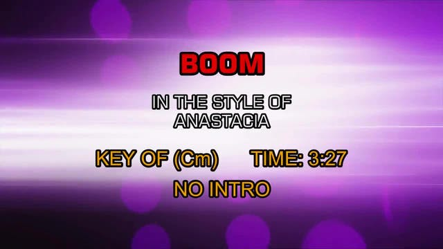 Anastacia - Boom