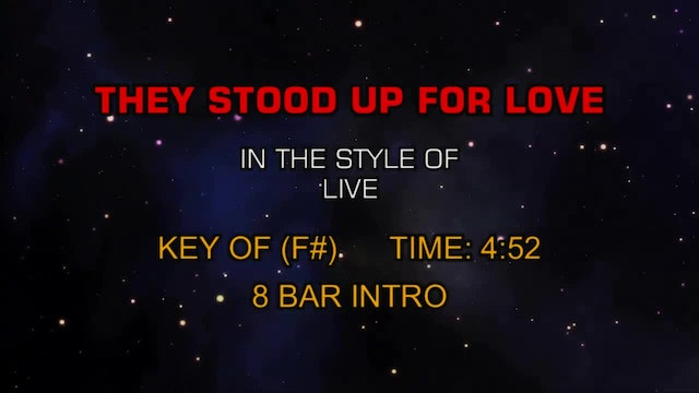Live - They Stood Up For Love
