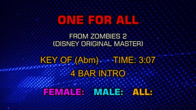 Zombies 2 - One For All