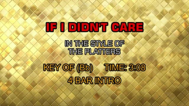 Platters, The - If I Didn't Care