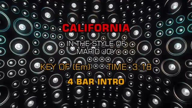 Mario Joy - California