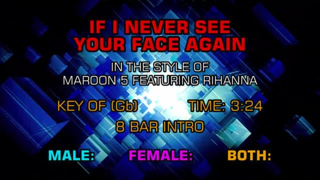 Maroon 5 ftg. Rihanna - If I Never See Your Face Again