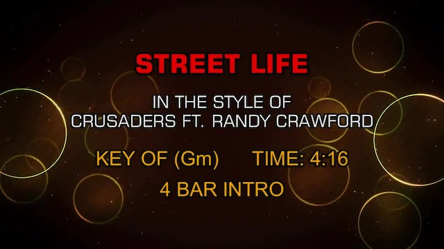 Crusaders Ft. Randy Crawford - Street Life