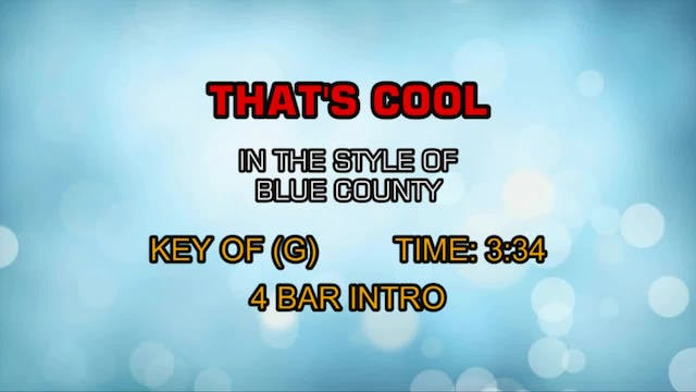 Blue County - That's Cool