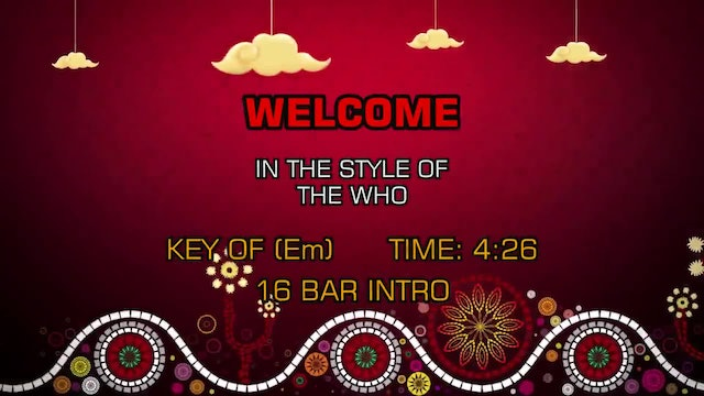 The Who - Welcome