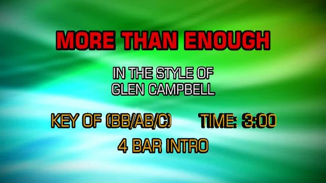 Glen Campbell - More Than Enough