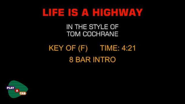 Tom Cochrane - Life Is A Highway - Pl...