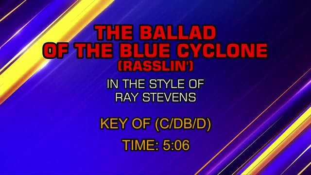 Ray Stevens - Ballad Of The Blue Cyclone
