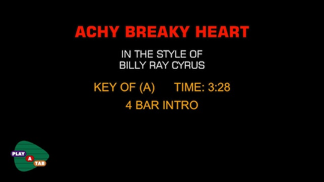 Billy Ray Cyrus - Achy Breaky Heart - Play A Tab