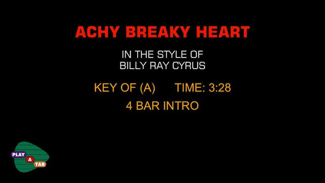 Billy Ray Cyrus - Achy Breaky Heart -...