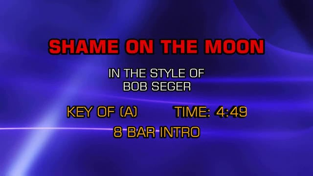 Bob Seger - Shame On The Moon
