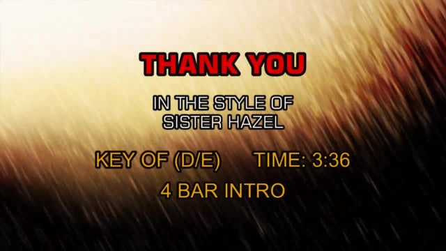 Sister Hazel - Thank You
