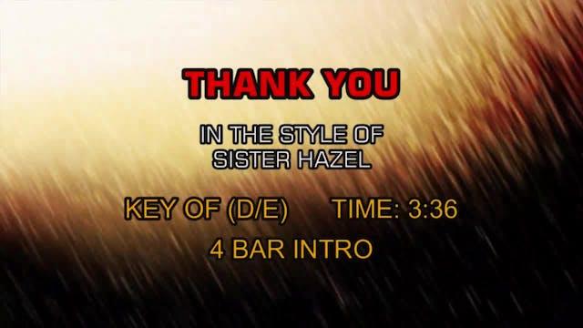 Sister Hazel - Thank You