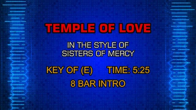 Sisters Of Mercy - Temple Of Love