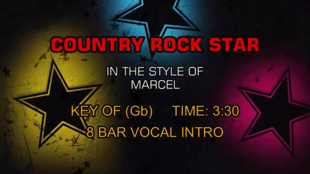 Marcel - Country Rock Star