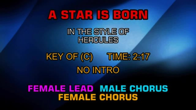 From The Disney Movie Hercules - A Star Is Born