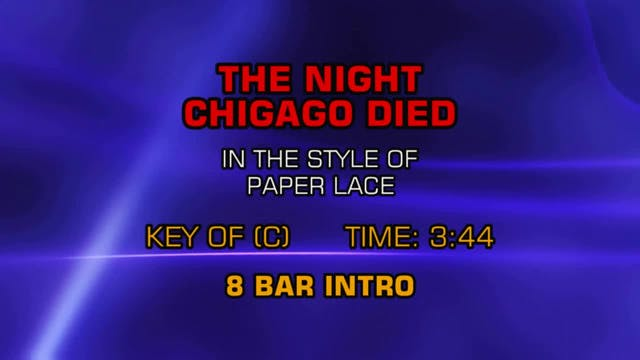 Paper Lace - Night Chicago Died, The