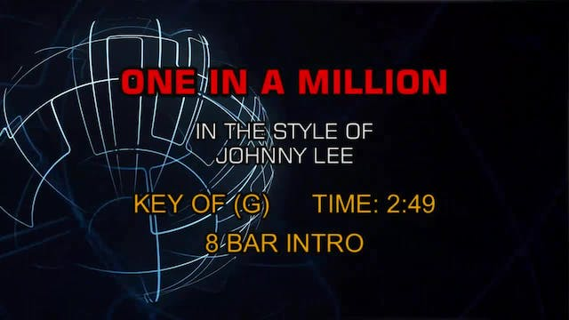 Johnny Lee - One In A Million