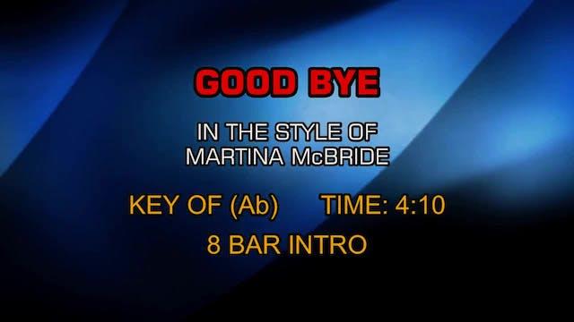 Martina McBride - Good Bye