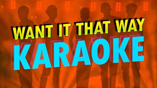 Sing Like The Backstreet Boys