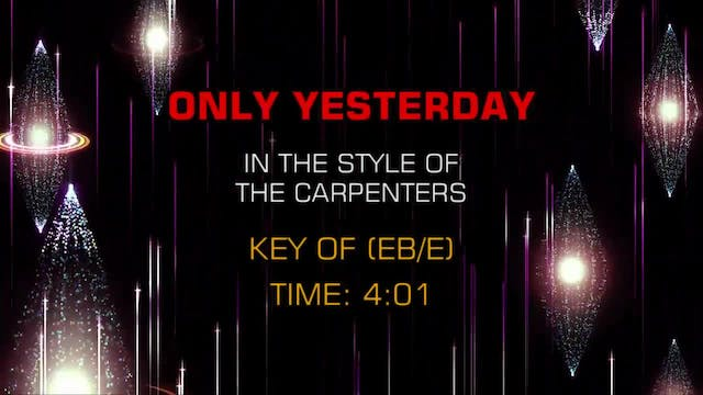 Carpenters, The - Only Yesterday
