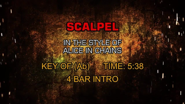 Alice In Chains - Scalpel