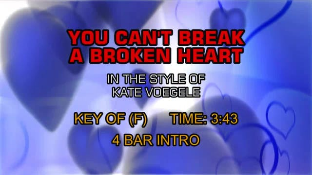 Kate Voegele - You Can't Break A Brok...