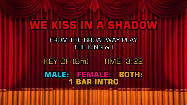 The King & I - We Kiss in a Shadow