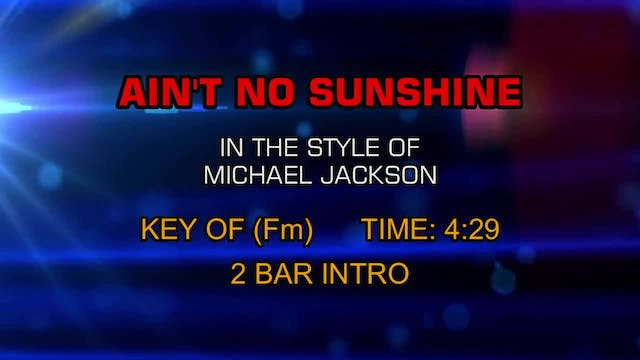 Michael Jackson - Ain't No Sunshine