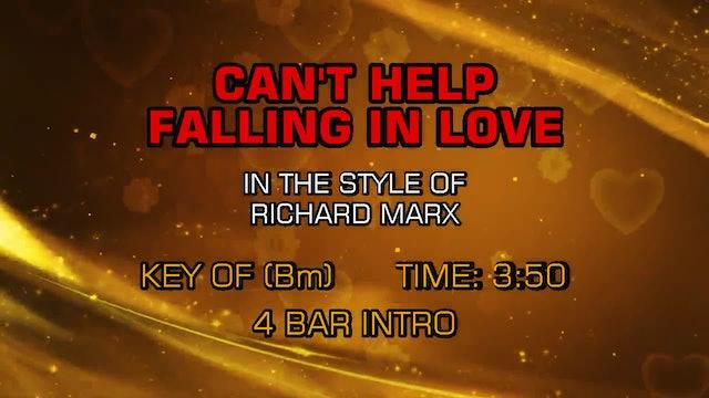 Richard Marx - Can't Help Falling In Love