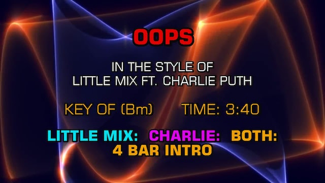 Little Mix feat. Charlie Puth - Oops