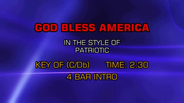 Standard - God Bless America