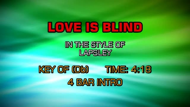 Lapsley - Love Is Blind