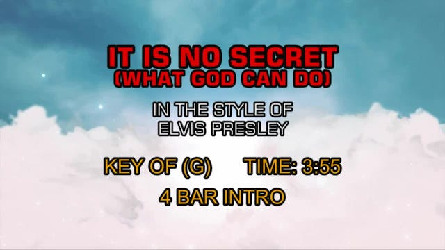 Elvis Presley - It Is No Secret (What...
