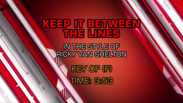 Ricky Van Shelton - Keep It Between t...