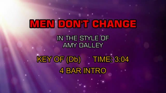 Amy Dalley - Men Don't Change