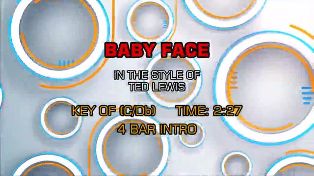 Ted Lewis - Baby Face