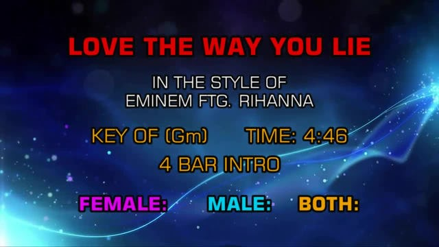 Eminem Ftg Rihanna - Love The Way You Lie